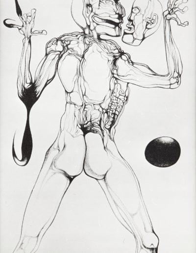 """Zdzisław Beksiński (1929-2005) """"Bez tytułu"""", zdjęcie pracy autentycznej"""