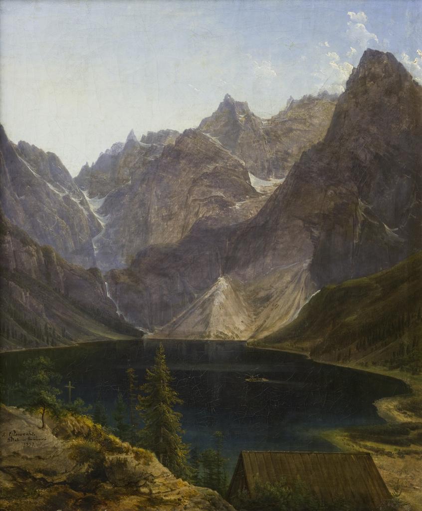 """Jan Nepomucen Głowacki """"Morskie Oko"""", 1837 rok, źródło: Muzeum Narodowe w Krakowie"""