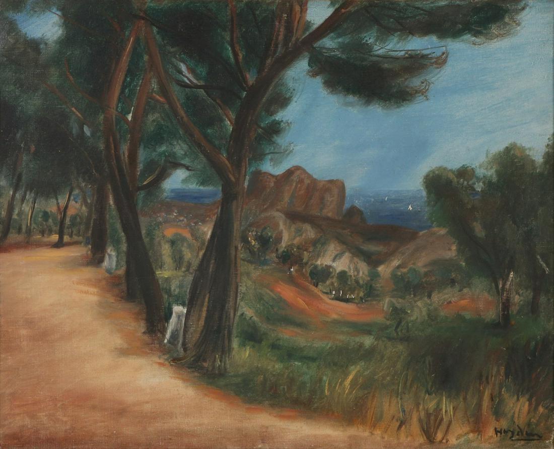 """Henryk Hayden (1883-1970) """"Pejzaż z Sanary"""", źródło: Tiroche Auction House"""
