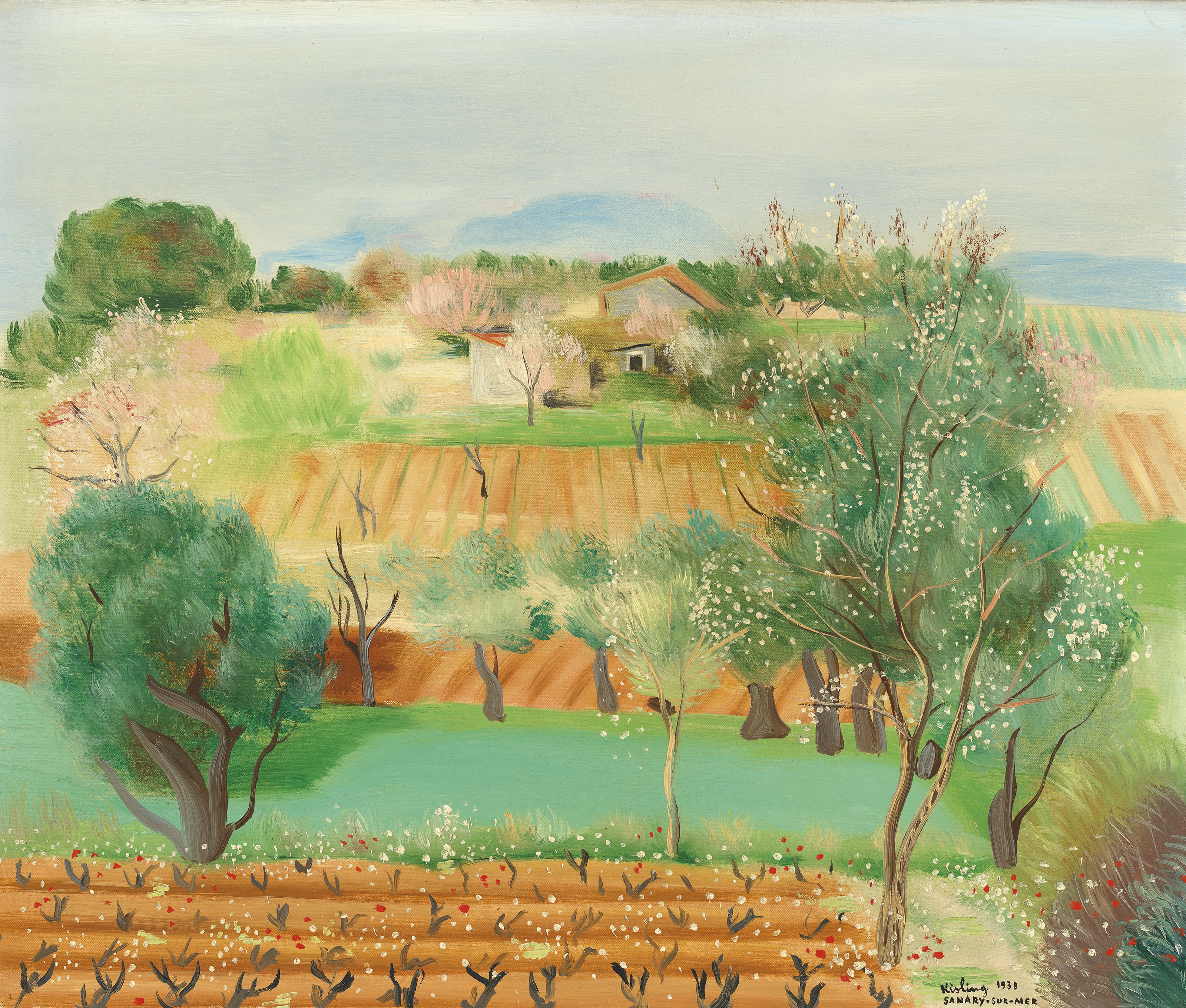 """Mojżesz Kisling (1891-1953) """"Letni pejzaż z Sanary"""", źródło: Christie's"""