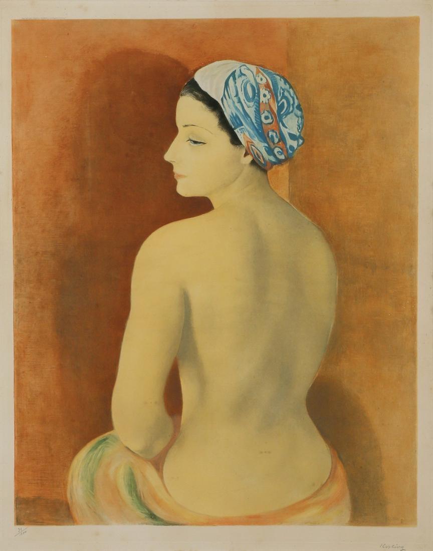 """Mojżesz Kisling (1891-1953) """"Akt w turbanie"""", źródło: Tiroche Auction House"""