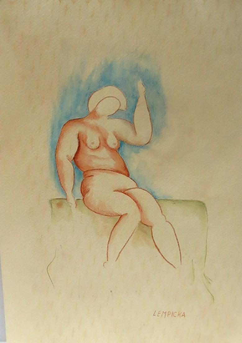 "Tamara Łempicka (1898-1980) ""Akt siedzący"", źródło: Carstens Galleries"