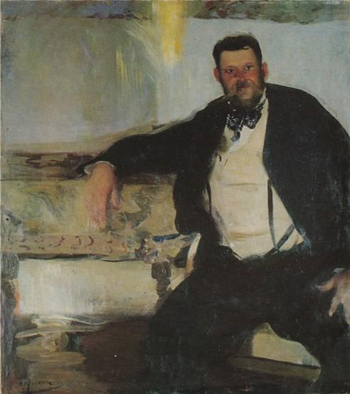 """Oleksander Murashko """"Portret Jana Stanisławskiego"""", 1906 rok, źródło: WikiArt"""