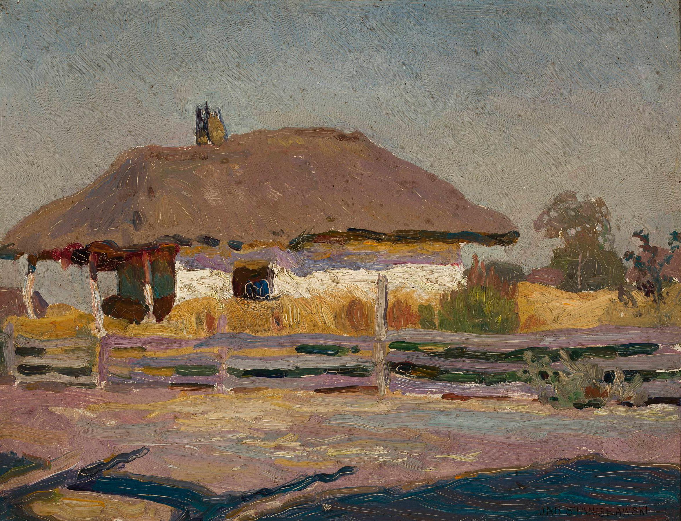 """Jan Stanisławski """"Chata wiejska"""", źródło: Muzeum Narodowe w Warszawie"""