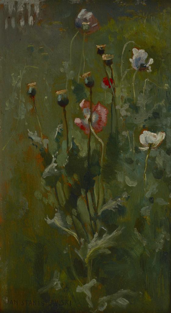 """Jan Stanisławski """"Kwitnące maki"""", między 1883 a 1890 rokiem, źródło: Muzeum Narodowe w Krakowie"""