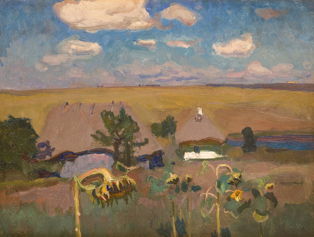 """Jan Stanisławski """"Słoneczniki (Popówka na Ukrainie)"""", 1905 rok, źródło: Muzeum Narodowe w Krakowie"""