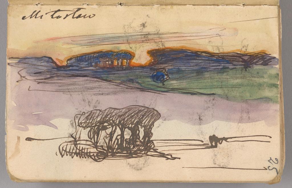 Jan Stanisławski, karta ze szkicownika, 1897 rok, źródło: Muzeum Narodowe w Krakowie