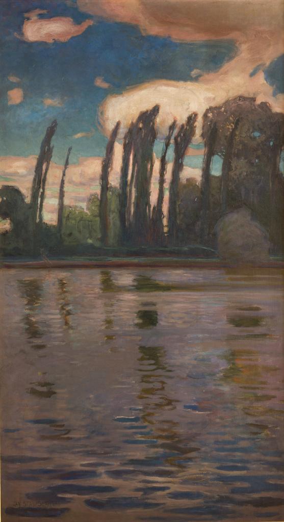 """Jan Stanisławski """"Topole nad wodą"""", 1900 rok, źródło: Muzeum Narodowe w Krakowie"""