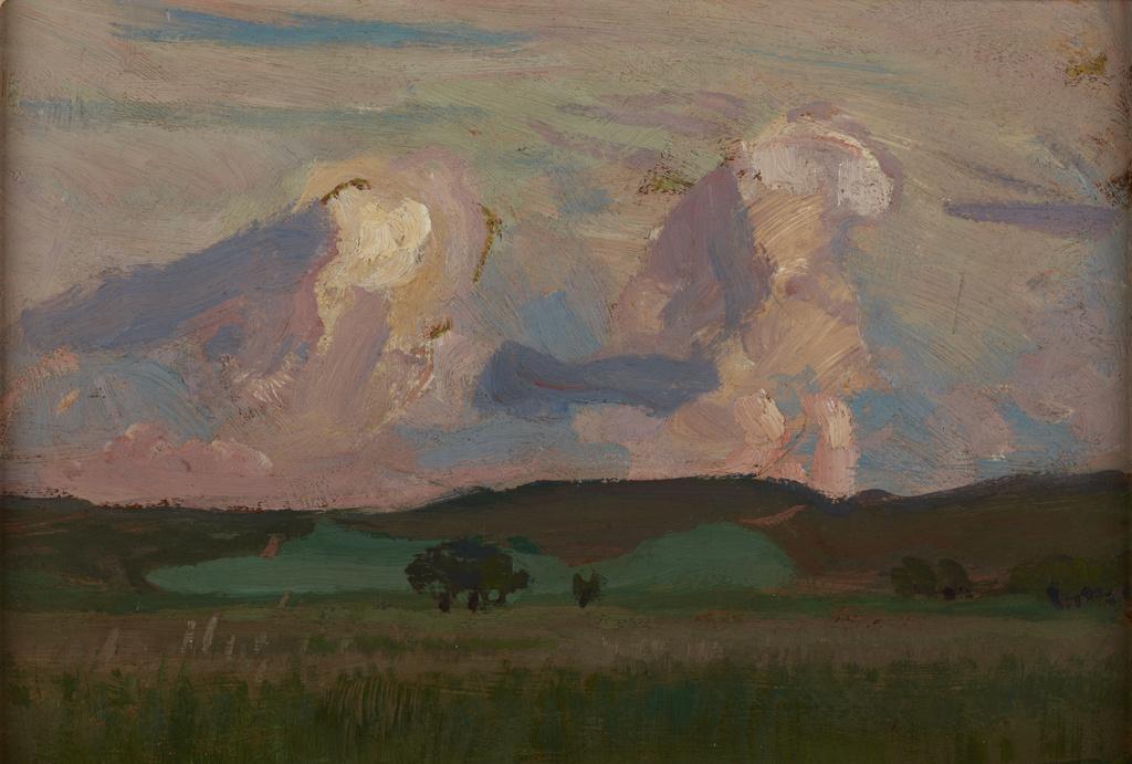 """Jan Stanisławski """"Wiosna na Krzemionkach"""", 1906 rok, źródło: Muzuem Narodowe w Krakowie"""