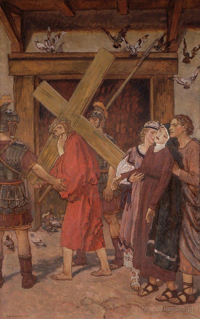"""Józef Mehoffer """"Stacja IV: Pan Jezus spotyka swą Matkę"""", źródło: franciszkanie.pl"""