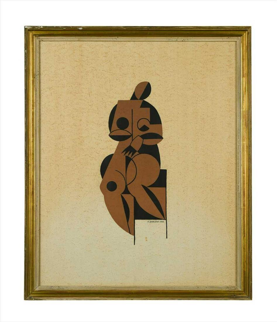 """Henryk Berlewi (1894-1967) """"Akt"""", źródło: Cheffins"""