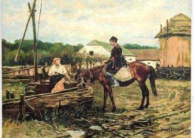 """Józef Brandt (1841-1915) """"Spotkanie"""", źródło: Uniques & Antiques"""