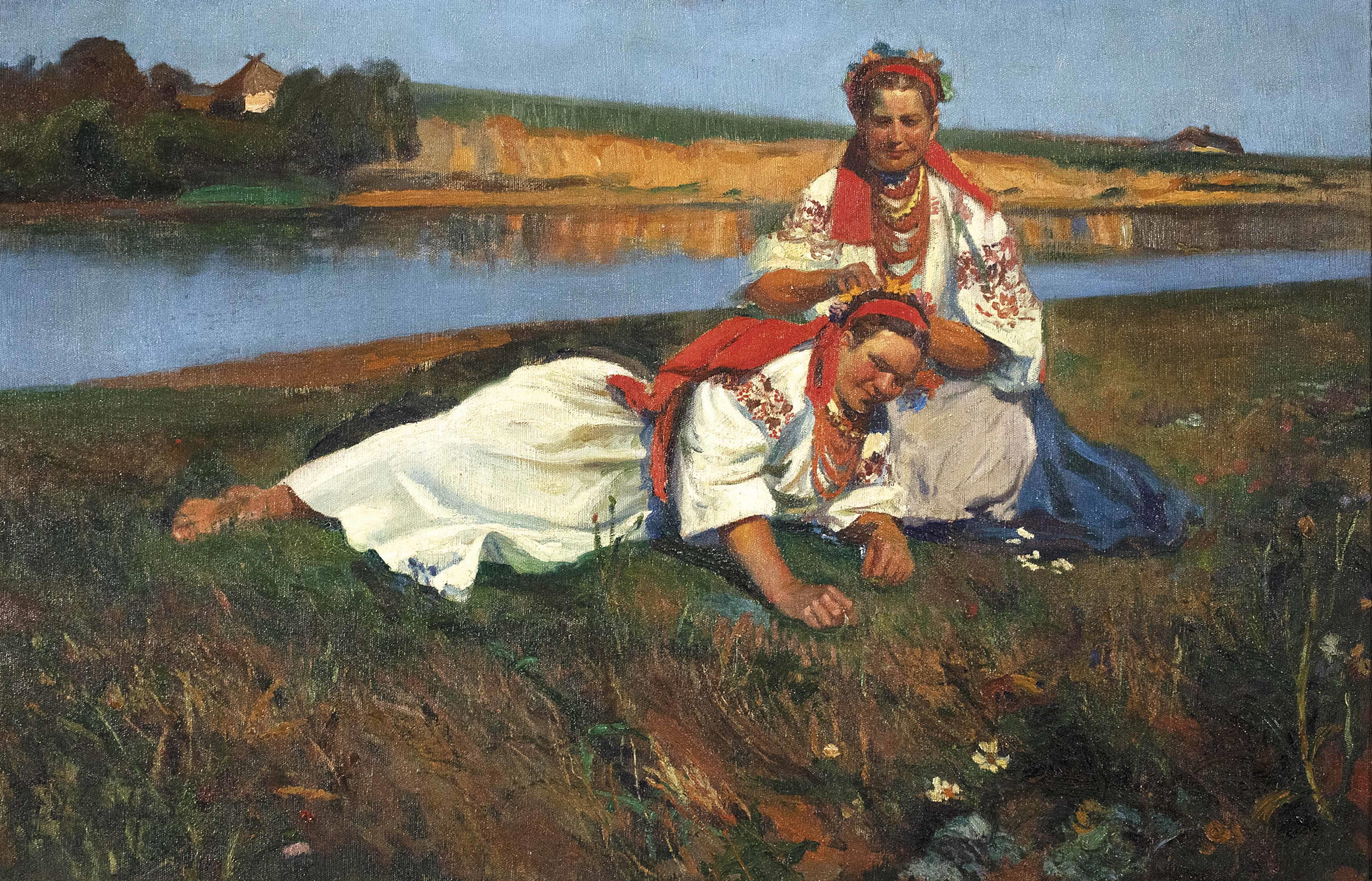 """Teodor Grott (1884-1972) """"Odpoczynek"""", źródło: Dorotheum"""