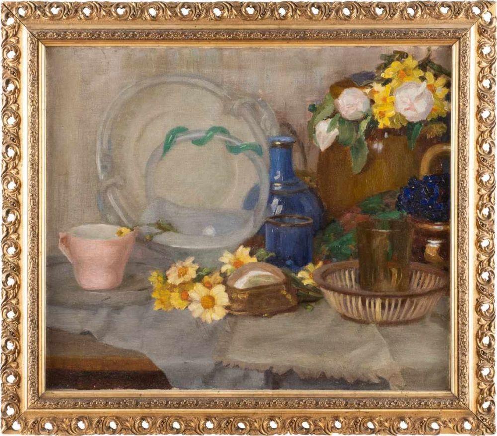"Alfons Karpiński (1875-1961) ""Martwa natura z porcelaną"", źródło: Hargesheimer Kunstauktionen Düsseldorf GmbH"