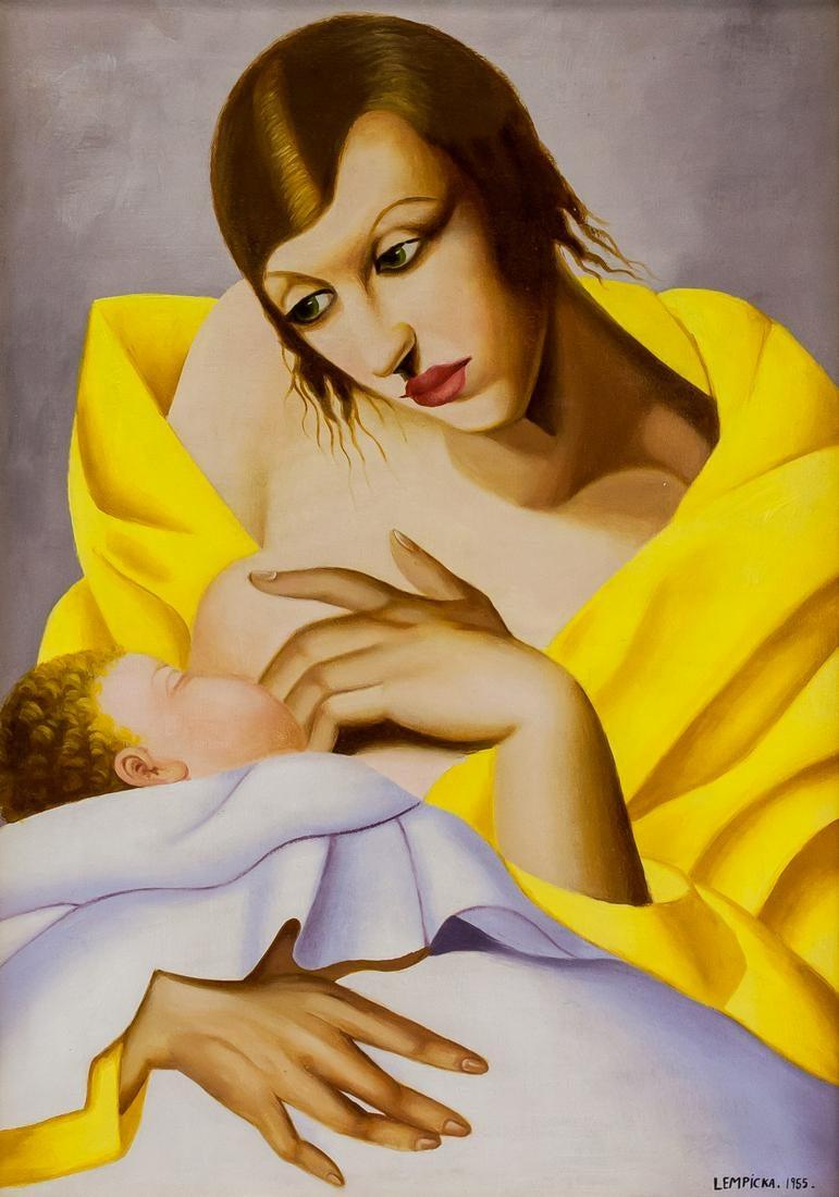 """Tamara Łempicka (1898-1980) """"Macierzyństwo"""", źródło: 888"""