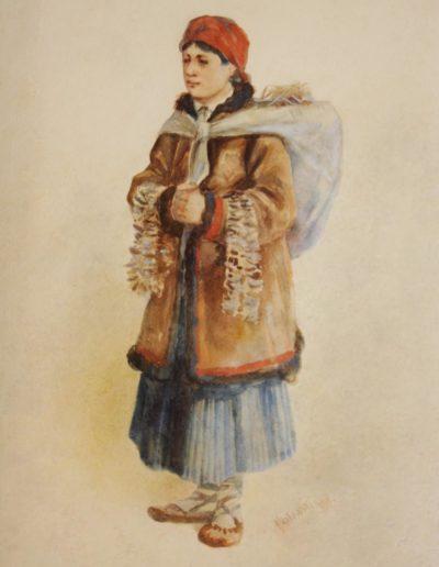 """Stanisław Masłowski (1853-1926) """"Hucułka"""", źródło: L'Art Gallery"""