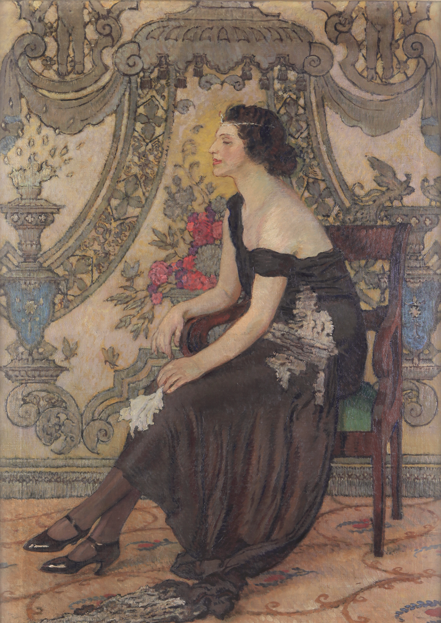 """Józef Mehoffer """"Róża Saronu – Fantazja ornamentalna"""", 1923 rok, źródło: Muzeum Mazowieckie w Płocku"""