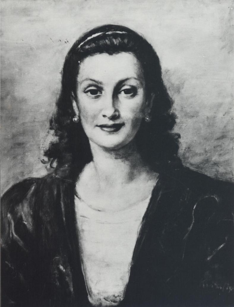 "Roman Kramsztyk (1885-1942) ""Portret Carlotty Bologna"", ok. 1932 roku, źródło: dzielautracone.gov.pl"