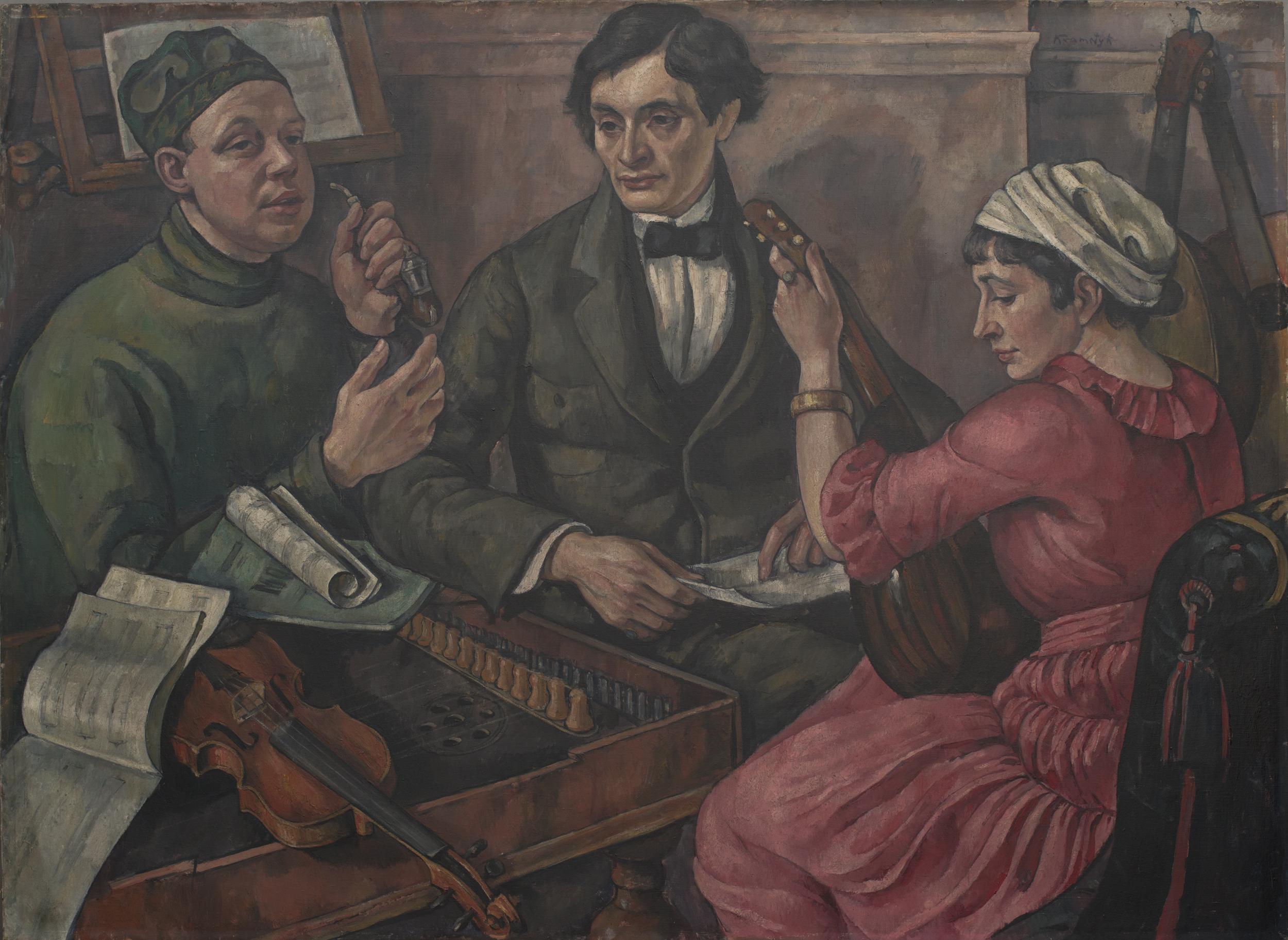 """Roman Kramsztyk (1885-1942) """"Koncert"""", 1918 rok, źródło: Muzeum Śląskie w Katowicach"""