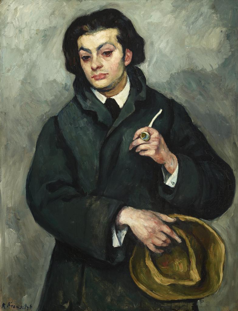 """Roman Kramsztyk (1885-1942) """"Portret Mojżesza Kisling"""", 1913 rok, źródło: Muzeum Narodowe w Krakowie"""