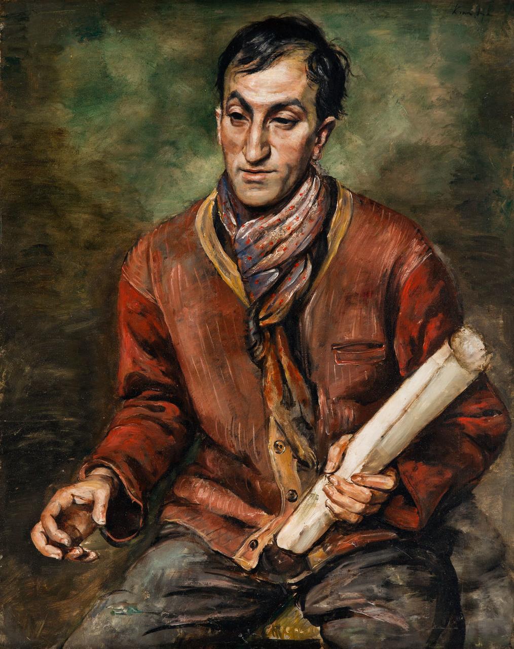 """Roman Kramsztyk (1885-1942) """"Portret Chila Aronsona"""", 1929 roku, źródło: Desa Unicum"""