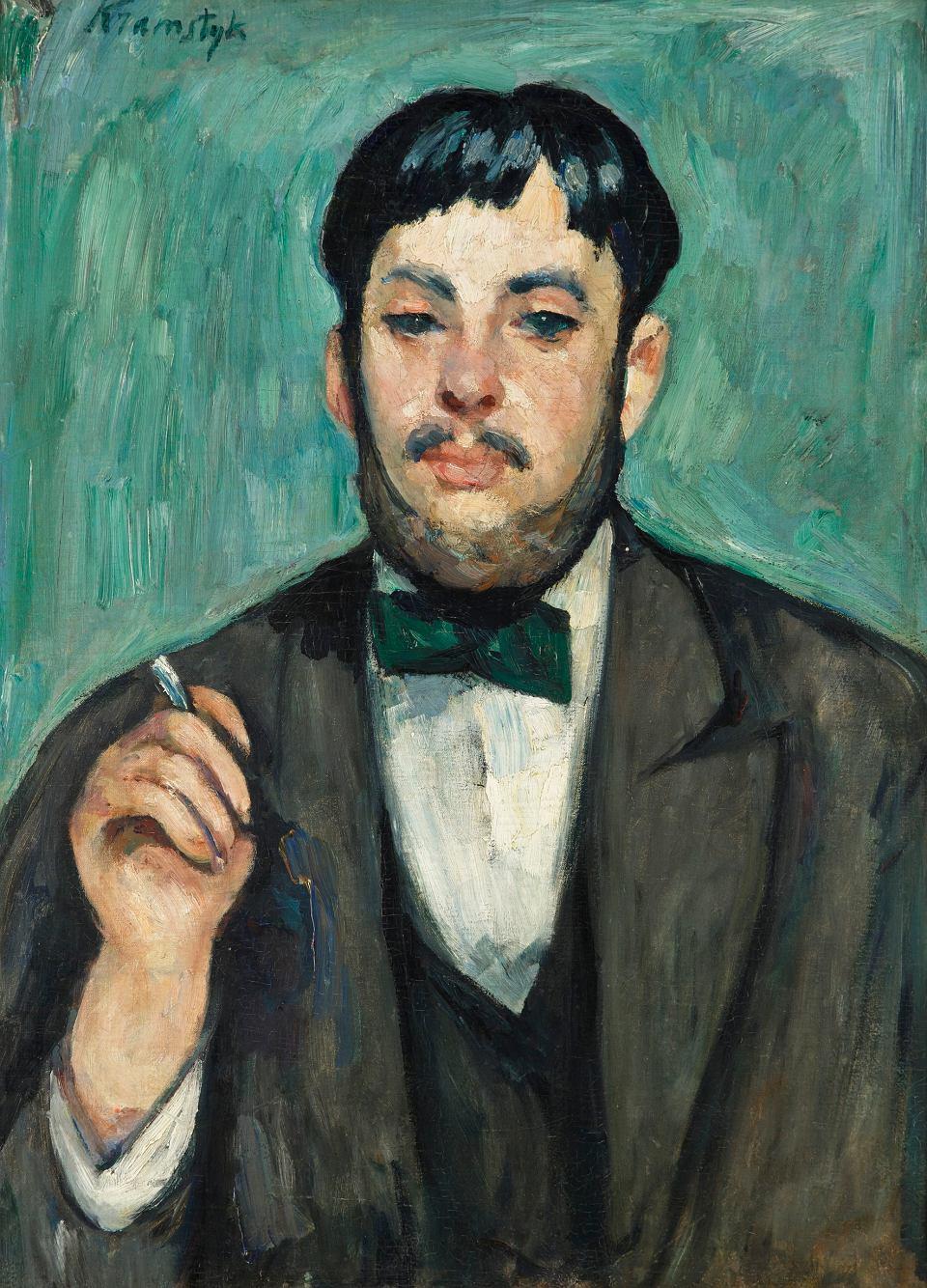 """Roman Kramsztyk (1885-1942) """"Portret Pana B (Mężczyzna z papierosem)"""", źródło: Muzeum Górnośląskie w Bytomiu"""