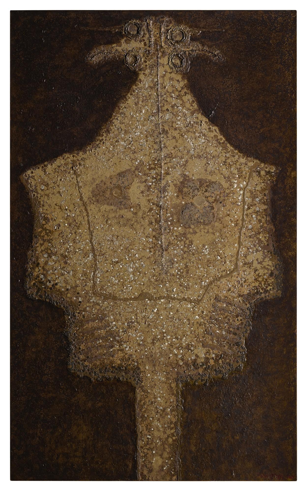 """Jan Lebenstein (1930-1999) """"Figura osiowa #90"""", źródło: Sotheby's"""