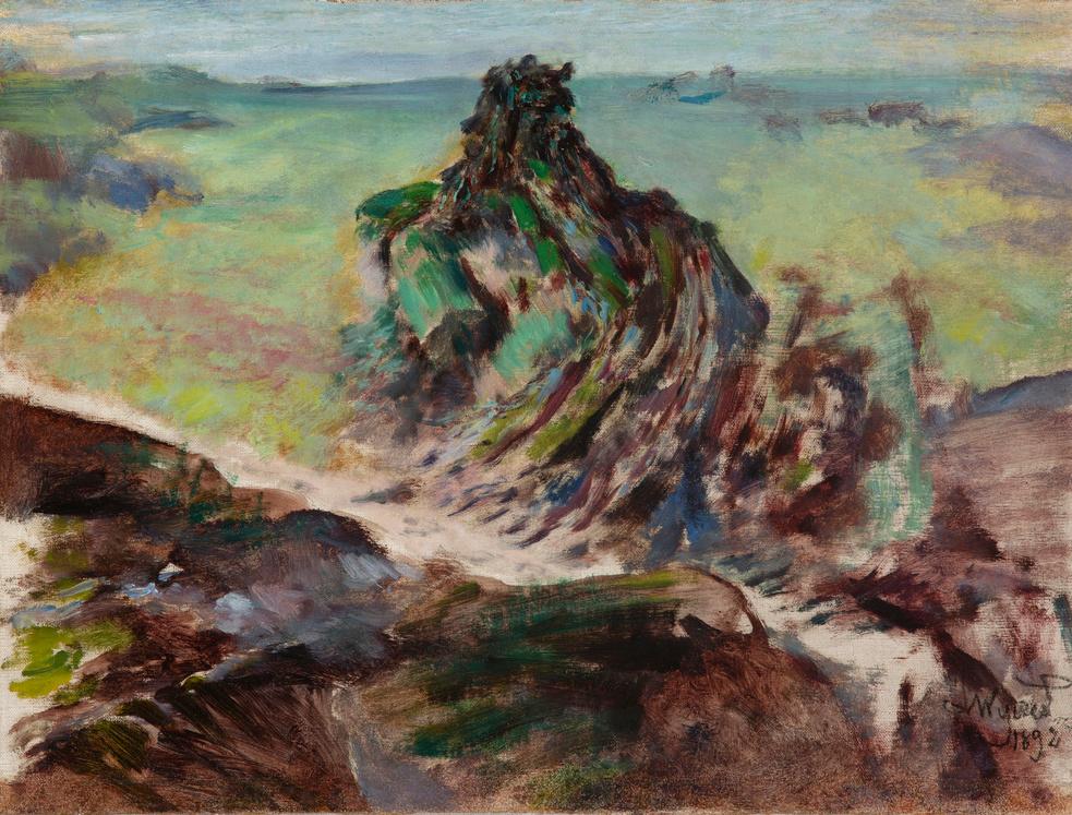 """Leon Wyczółkowski (1852-1936) """"Druid skamieniały"""", 1892 rok, źródło: Muzeum Narodowe w Krakowie"""