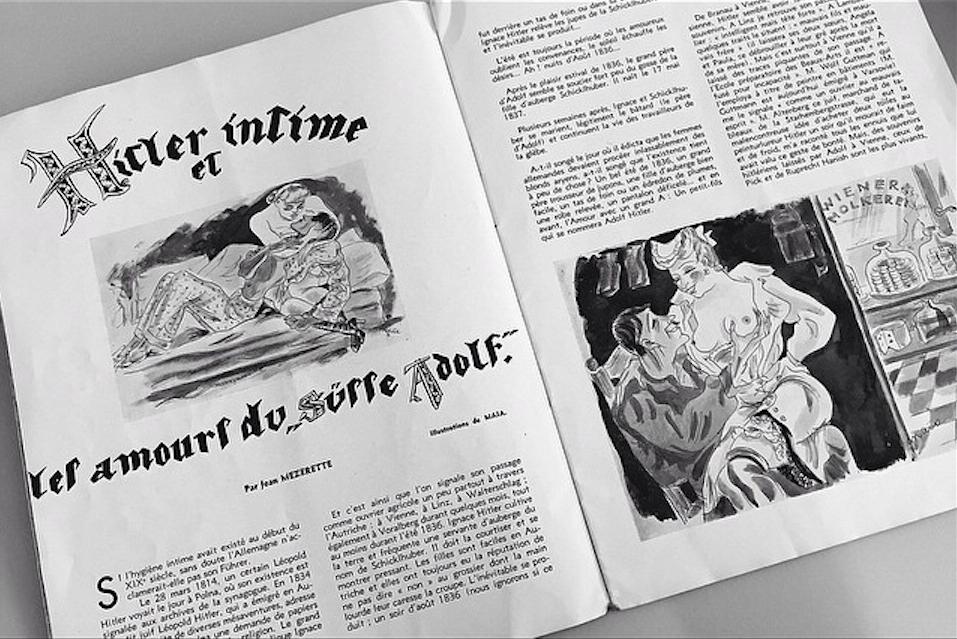"""Maja Berezowska (1893 - 1978), Ilustracje do """"Miłostek słodkiego Adolfa"""", źródło: ogrody-mokotow.org"""