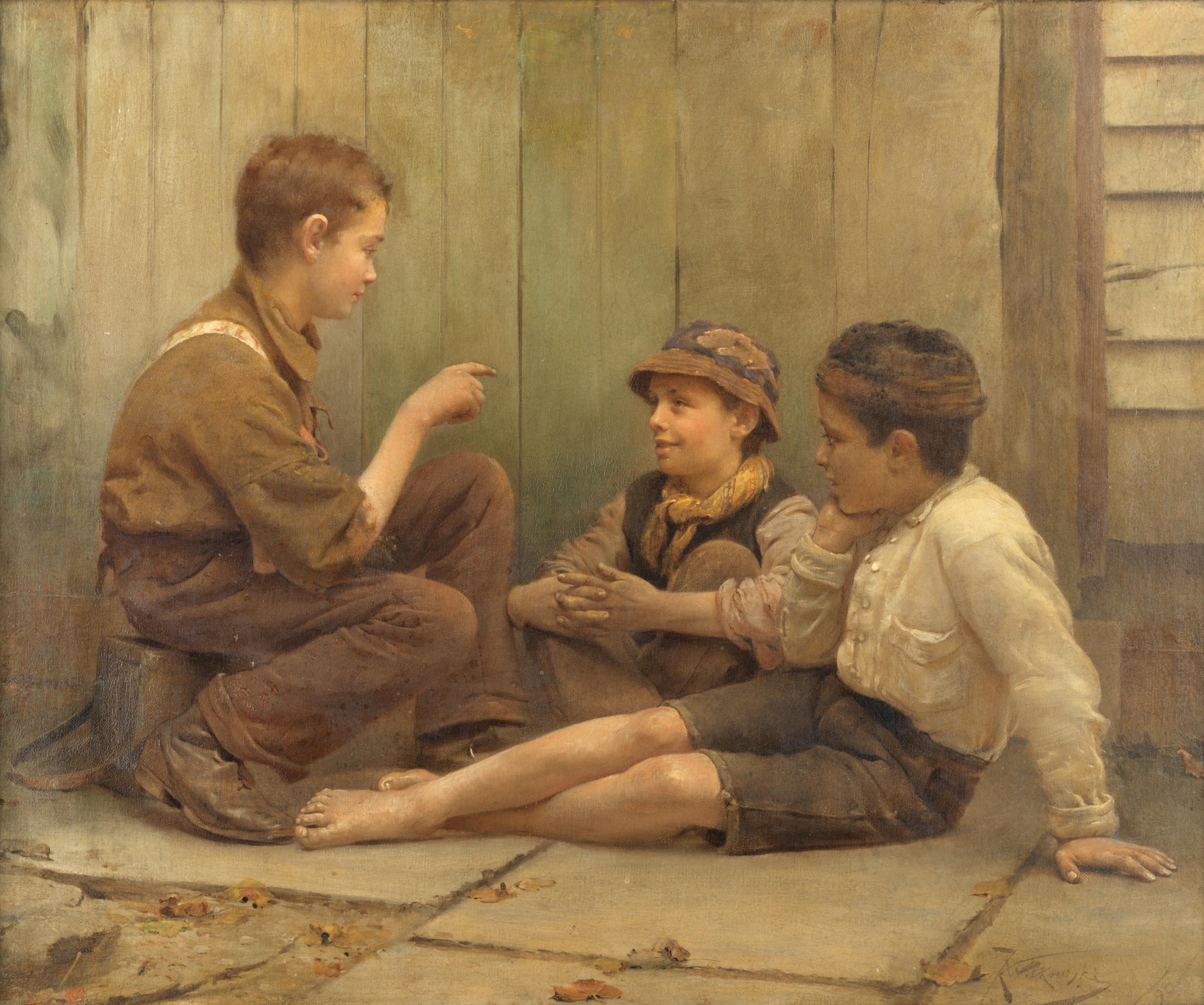 "Karol Dominik Witkowski (1860-1910) ""Skupione audytorium"", źródło: Bonhams"
