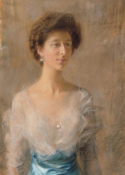 """Teodor Axentowicz (1859 - 1938) """"Portret Pani Pillatowej"""", 1909 rok, źródło: Muzeum Narodowe we Wrocławiu"""