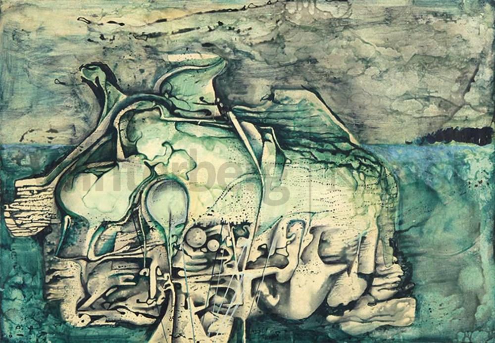 """Hilary Krzysztofiak (1926-1979) """"Kompozycja"""", źródło: Winterberg Auktionen"""