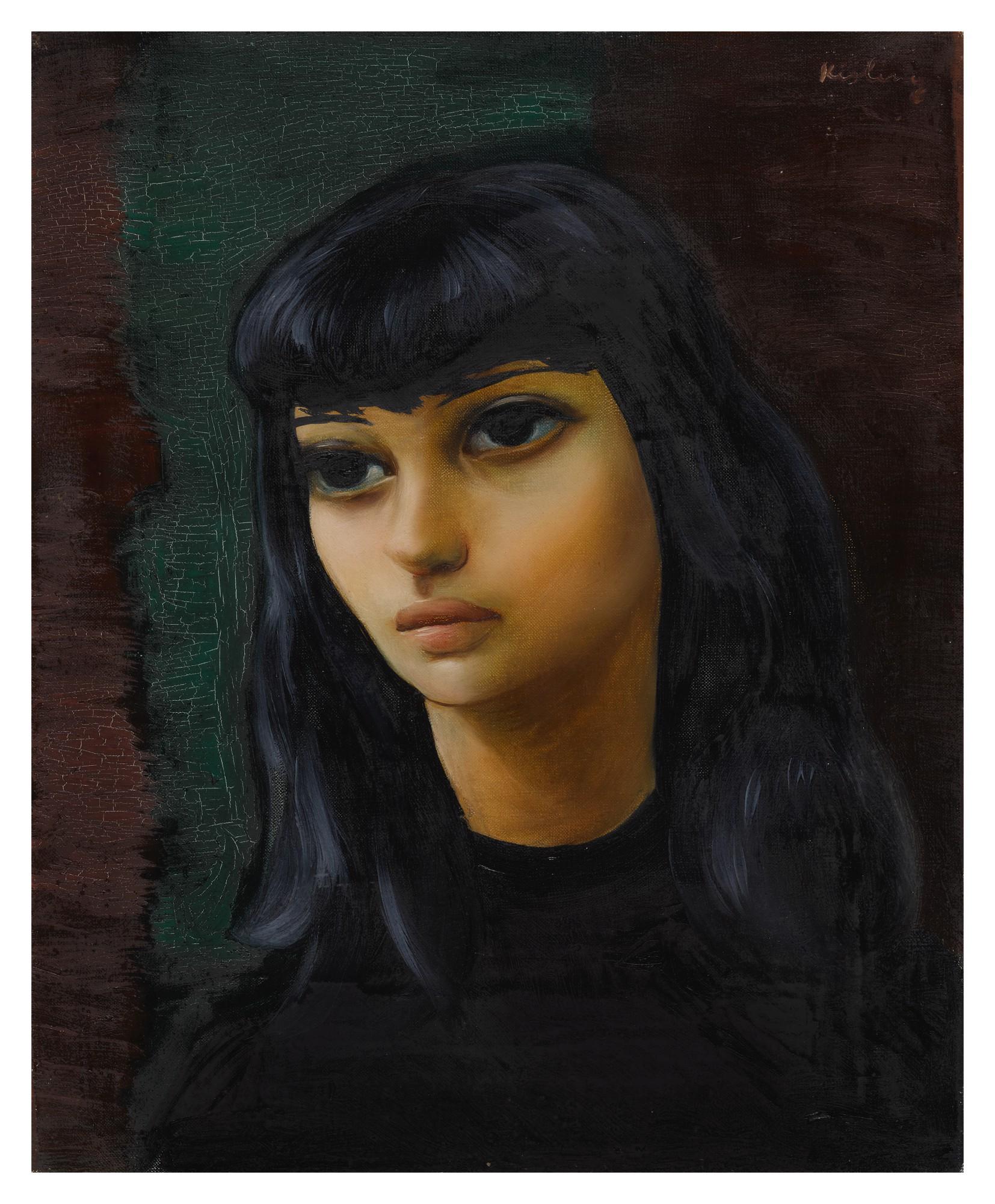 """Mojżesz Kisling (1891-1953) """"Młoda dziewczyna"""", źródło: Sotheby's"""