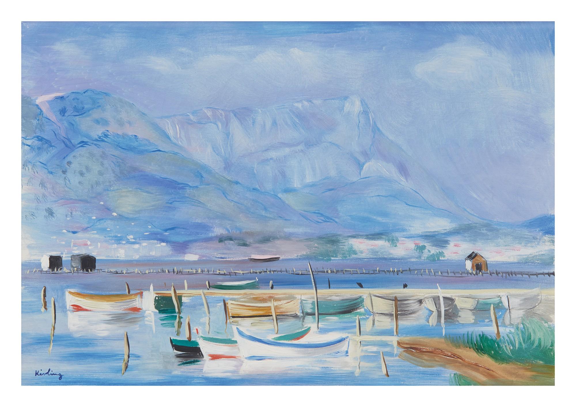 "Mojżesz Kisling (1891-1953) ""Port w Tamaris"", źródło: Sotheby's"