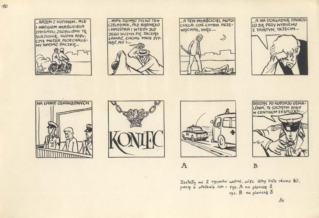 Kobyliński był autorem wielu komiksów, źródło: Art Komiks