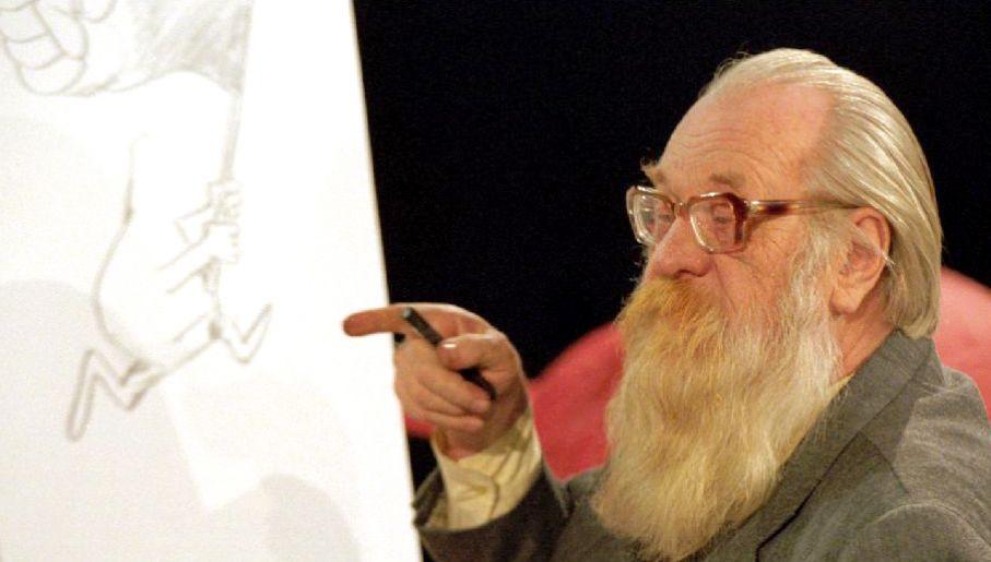 Kobyliński chętnie występował w telewizji, ucząc widzów podstaw rysunku, źródło: TVP Info