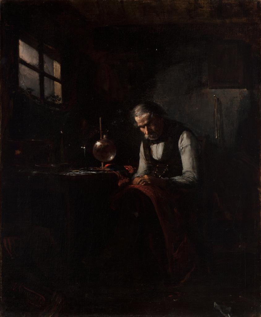 """Wacław Koniuszko (1854-1900) """"Krawiec"""", pomiędzy 1872 a 1878 rokiem, źródło: Muzeum Narodowe w Krakowie"""