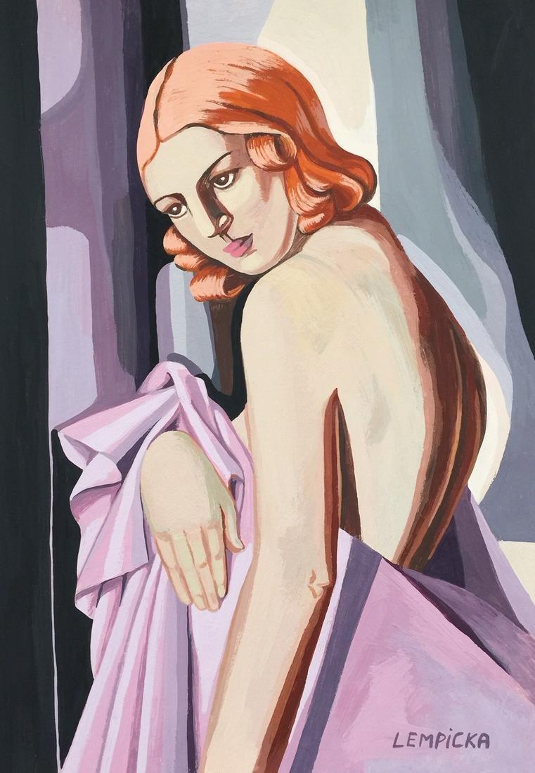 "Tamara Łempicka (1898-1980) ""Rudowłosa"", źródło: Harlequin Auction"