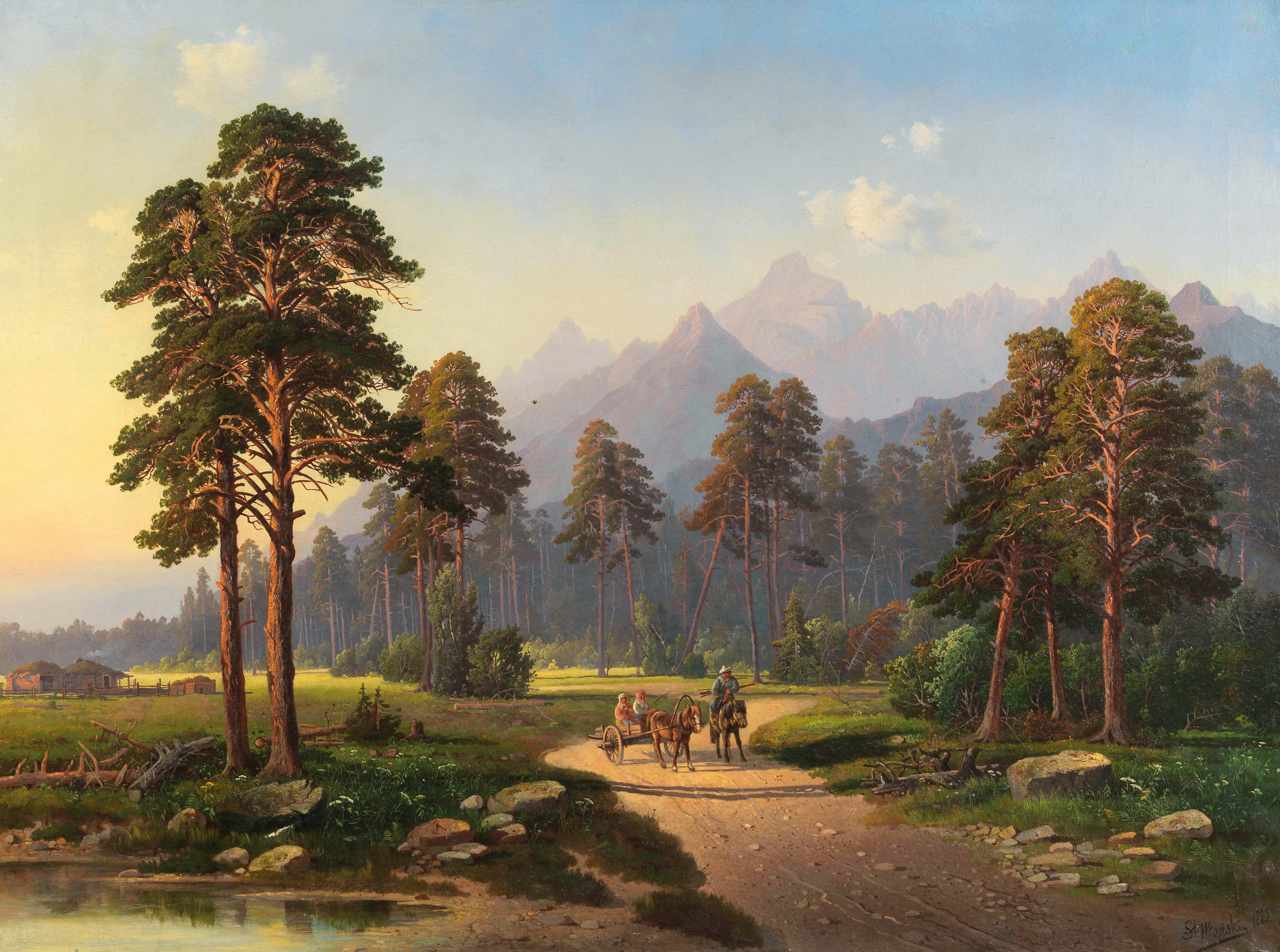 """Stanisław Wroński (1848-1898) """"Letni pejzaż"""", źródło: Dorotheum"""