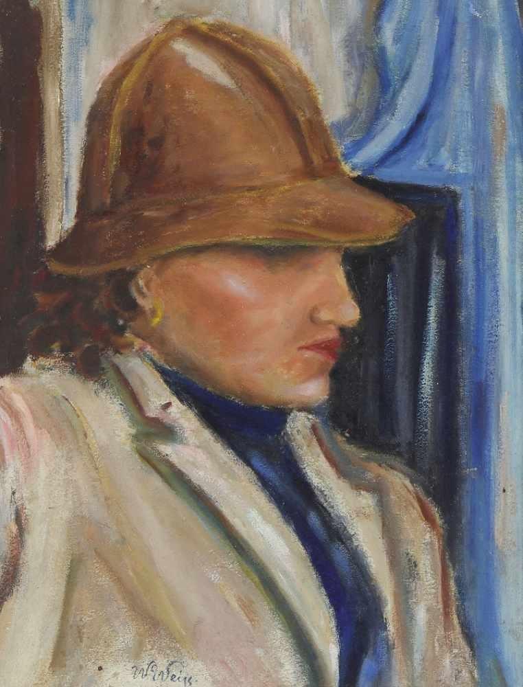 """Wojciech Weiss (1875-1950) """"Portret kobiety"""", źródło: Auktionshaus OWL"""