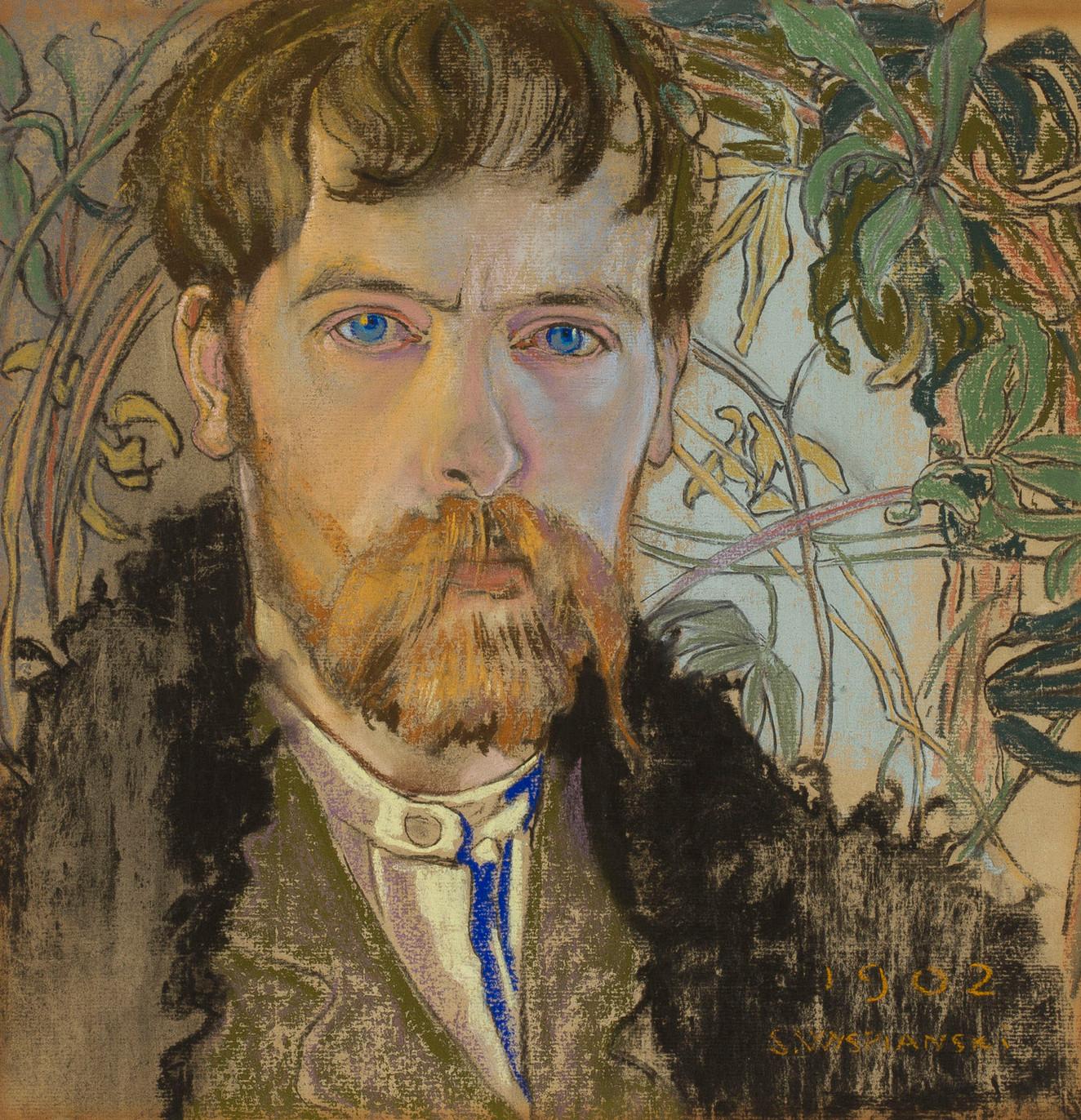 """Stanisław Wyspiański (1869-1907) """"Autoportret"""", 1902 rok, źródło: Muzeum Narodowe w Warszawie"""