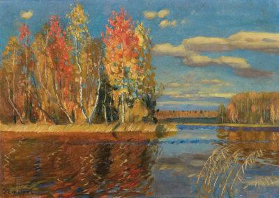 """Stanisław Żukowski (1873-1944) """"Jesień nad wodą"""", źródło:  Agra-Art"""