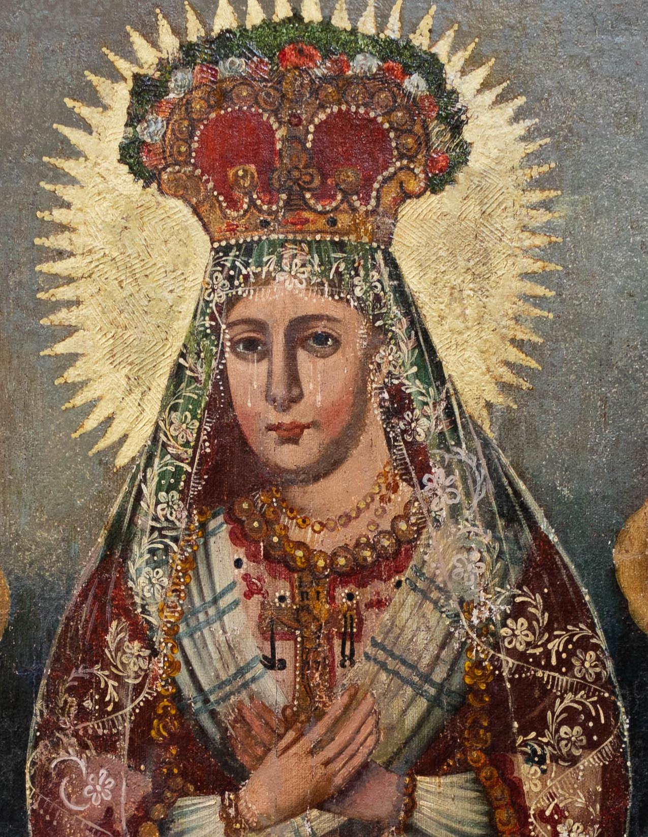 """Warsztat Chrząstkiewiczów, """"Matka Boska Saletyńska"""", fragment, źródło: archiwum autora"""