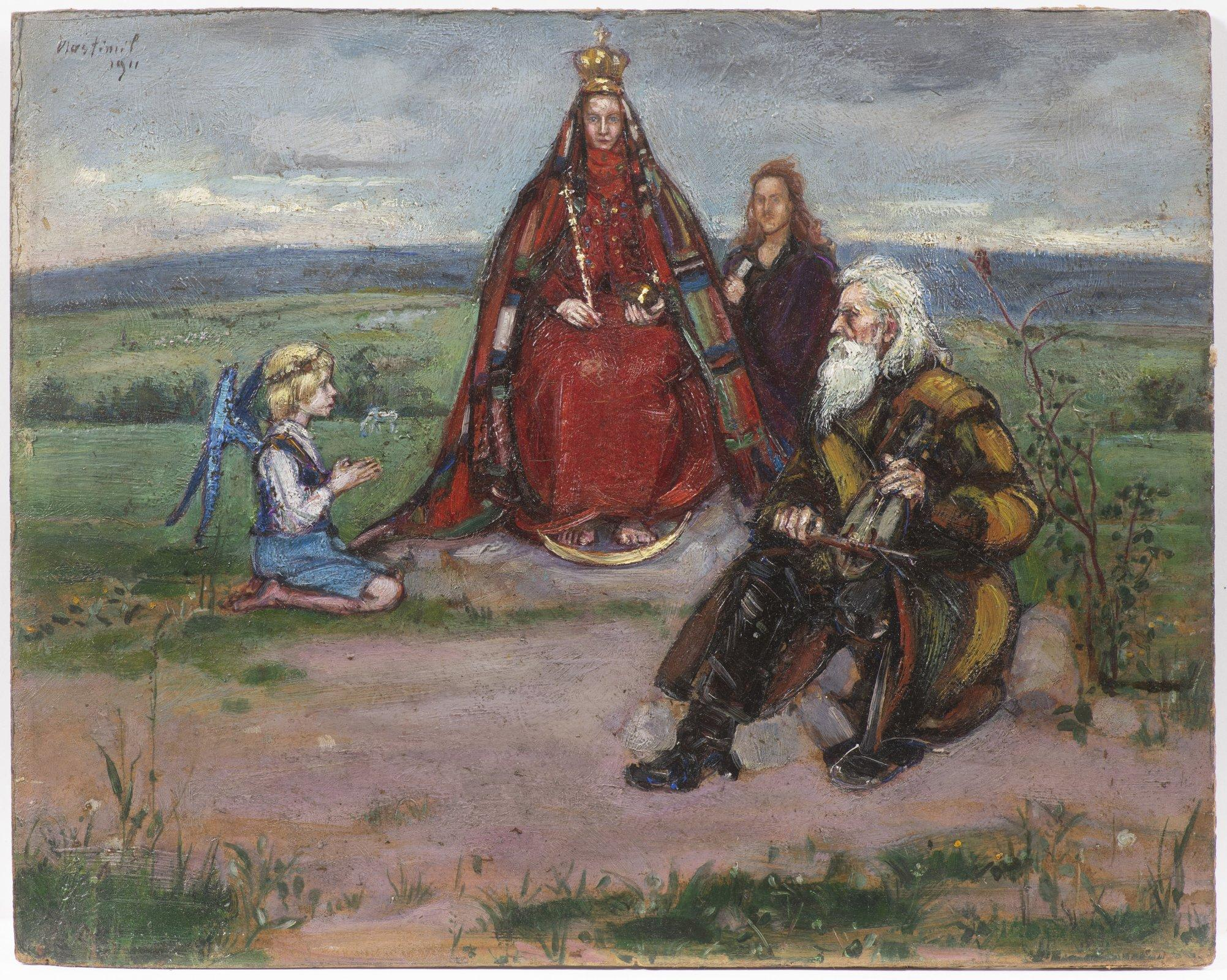 "Wlastimil Hofman (1881-1970) ""Ziemia obiecana"", źródło: Arthouse Hejtmánek"
