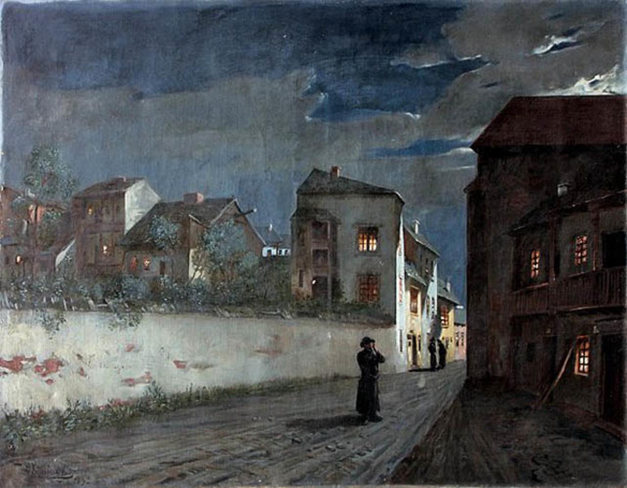 """Wacław Koniuszko (1854-1900) """"Piątkowy wieczór"""", 1892 rok, źródło: Nautilus Kraków"""