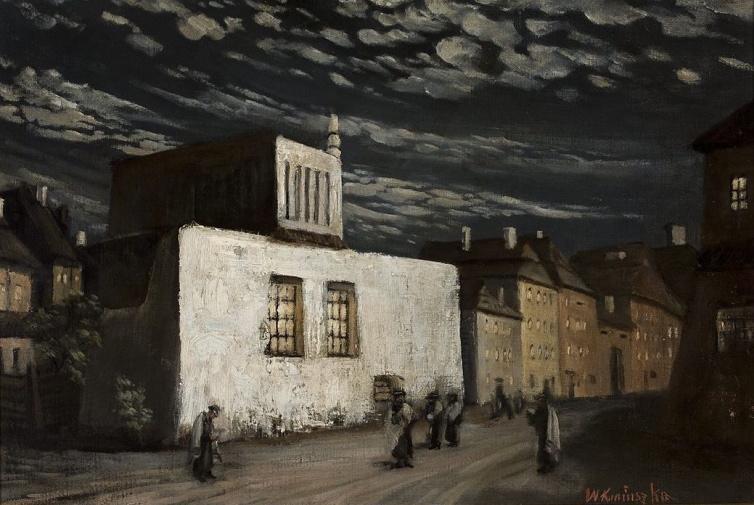 """Wacław Koniuszko (1854-1900) """"Synagoga"""", 1883 rok, źródło: Muzeum Narodowe w Warszawie"""