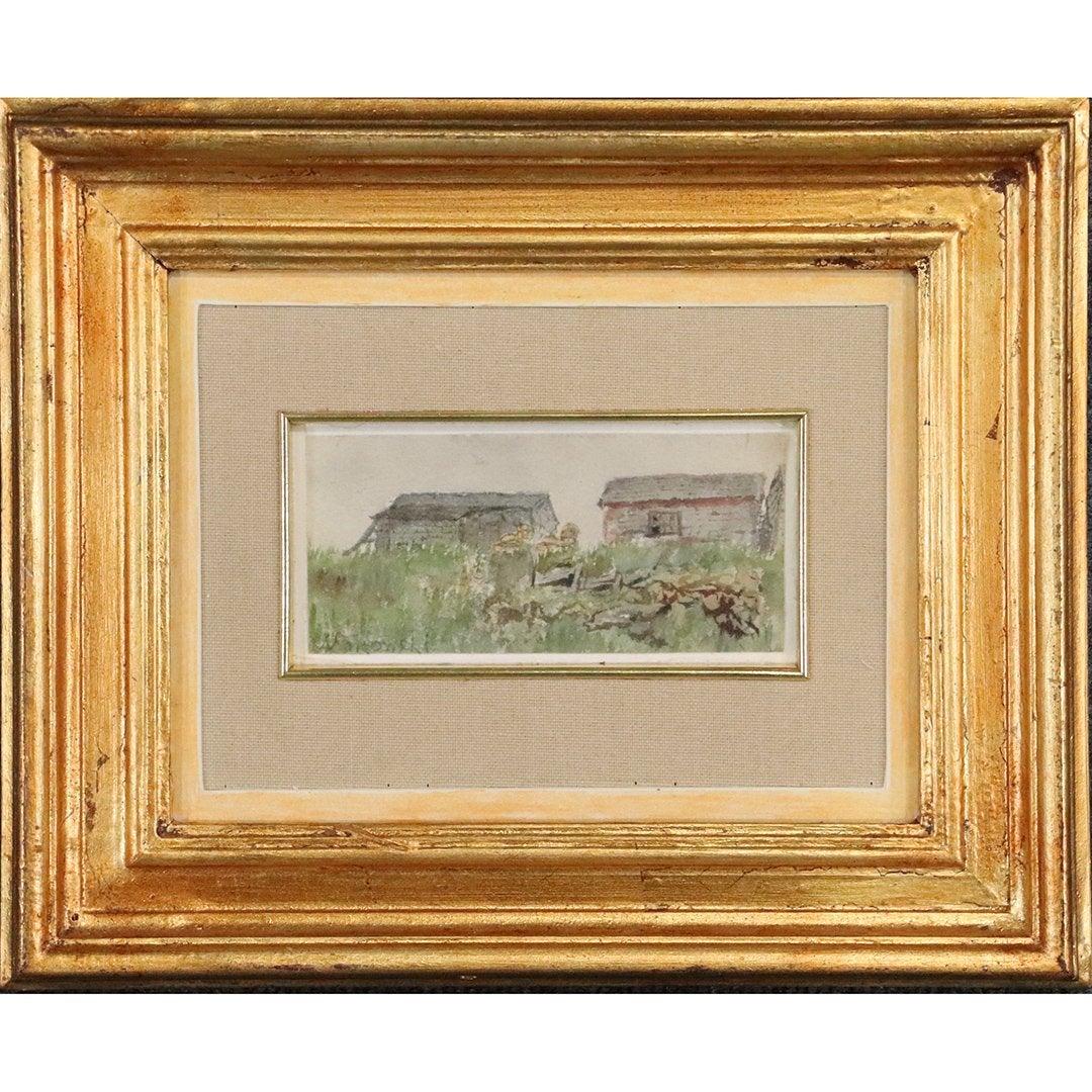 """Tadeusz Makowski (1882-1932) """"Wiejskie zabudowania"""", źródło: Donny Malone Auctions"""