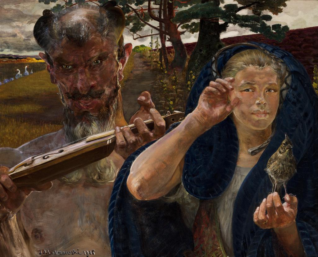 """Jacek Malczewski (1854-1929) """"Piosenka jesienna"""", 1906 rok, źródło: Muzeum Narodowe w Krakowie"""