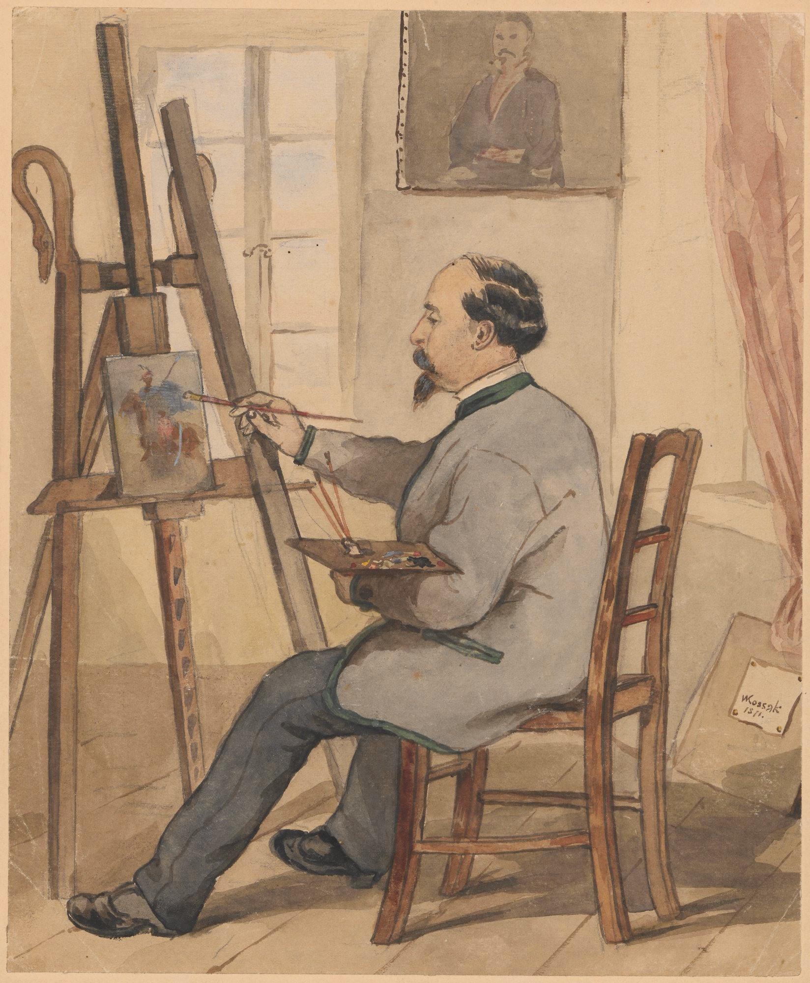 """Wojciech Kossak (1856 - 1942) """"Portret Juliusza Kossaka"""", 1871 rok, źródło: Muzeum Narodowe w Warszawie"""