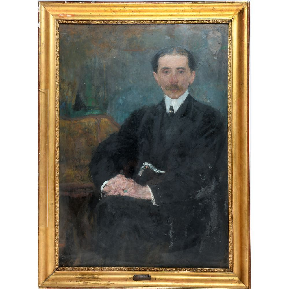 "Olga Boznańska (1865-1940) ""Portret męski"" (najprawdopodobniej Maurice Barres), źródło: Denis Herbette"